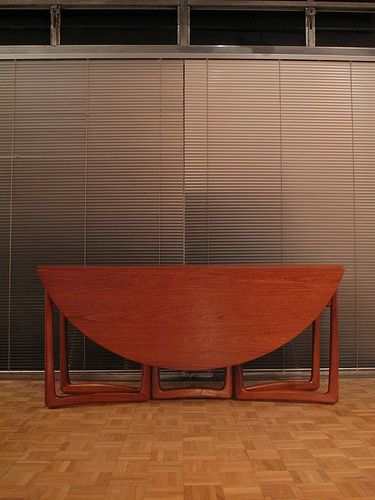 Peter Hvidt & Orla Molgaard Nielsen Dropleaf Dining Table by mcminteriors, via Flickr