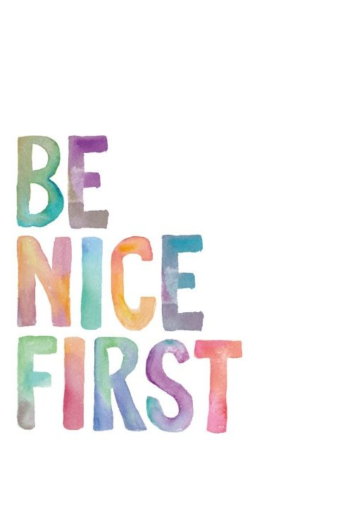 Be nice even if they aren't.  Be nice even before they are nice.  Be nice as a starting point to truly caring for and loving others.  (Luke 6:27-36; Matthew 5:43-48, 22:37-40; Mark 12:33)  Say hello.  Smile.