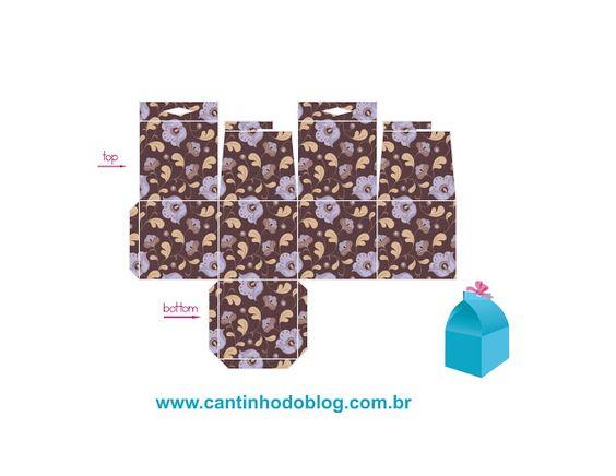 Caixas Box para imprimir e montar - Cantinho do blog