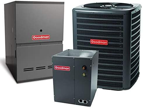 Goodman 13 5 Seer 1 5 Ton Complete Split Air Conditioning System With Furnace Gsx130181 Chpf2430b6 Gce In 2020 Air Conditioning System Superior Homes Modern Rectangle