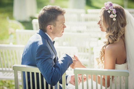 Весенняя нежная свадьба.