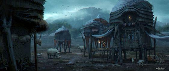 "Rowena Wang, Canada - ""C.O.T: The Goblin Village"" http://wang2dog.deviantart.com/"