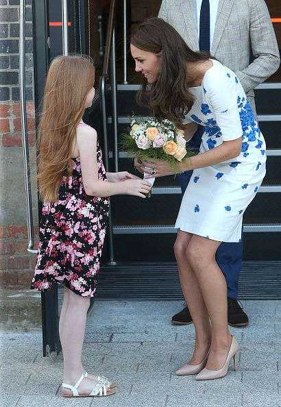 Catherine Duchess of Cambridge visits Youthscape on August 24 2016 in Luton England: