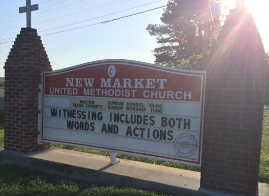 Witnessing (Church Sign - New Market United Methodist Church)