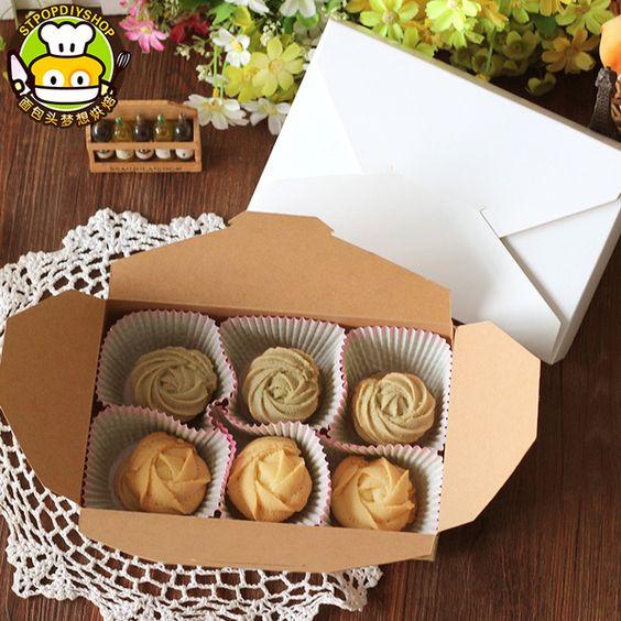 烘焙包裝6粒裝月餅盒牛軋糖點心牛皮紙蛋糕盒西點盒餅幹盒5個批發