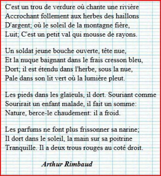 Pinterest the world s catalog of ideas - Le dormeur du val rimbaud ...