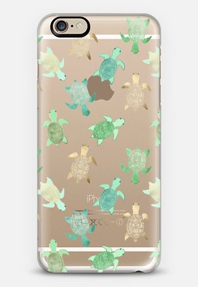 Turtles on Clear II iPhone 6s case by Tangerine- Tane | Casetify: