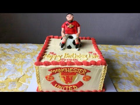 manchester united cake design ighalo 2020 youtube in 2020 manchester united cake cake design buttercream designs manchester united cake design