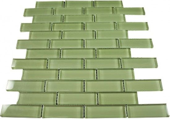 Ocean Spray 1 In X3 In Olive Green Glass Tile Mosaic Tiles For