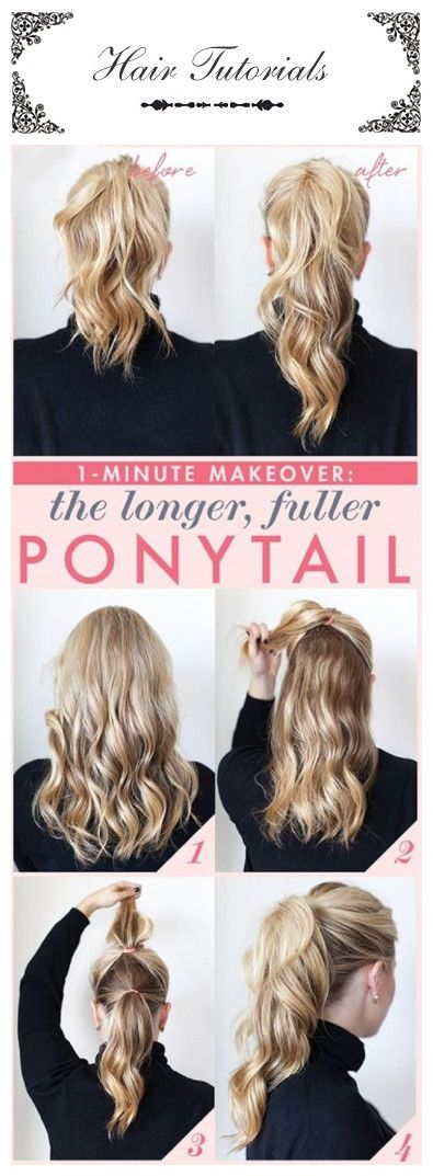 In case you couldn't decide between the low bun or twisted pony, both equally flattering options, we have included a union of the two to make your decision easier. This hair style is just to die for, and it will only takes 5 minutes. Put your entire hair in a ponytail.#Hairstyle#