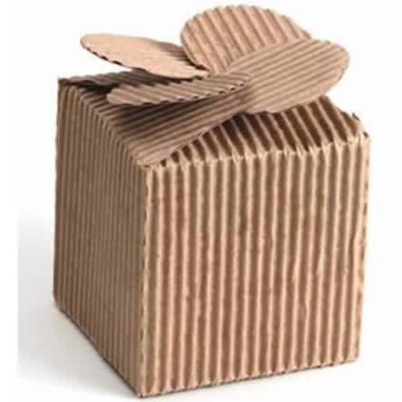 Productos - Caja Mediana Moño Corrugado Natural 9.7Cm 1Pz - Fantasias Miguel