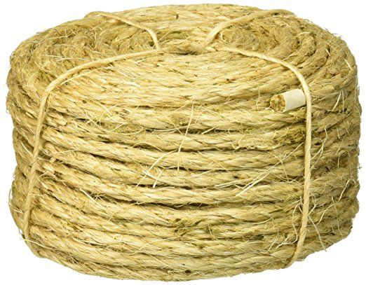 Lehigh Group 8010lw P Twisted Sisal Rope 1 4 X 100 With Images Sisal Rope Sisal Twine Sisal