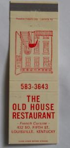 Menu from the Old House
