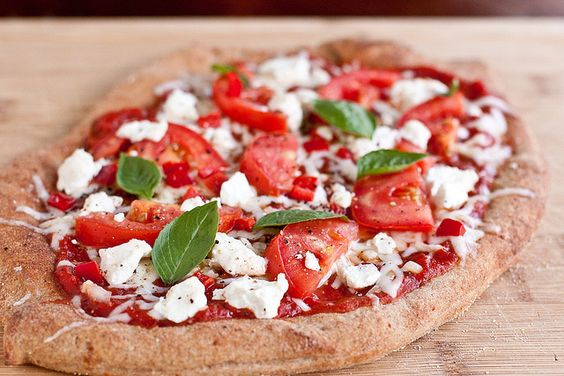 Red, White, and Green Pizza by foodiebride, via Flickr