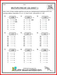 math worksheet : multiplying by 10s 4th grade multiplication worksheets  : Multiplication Worksheets 4th Grade