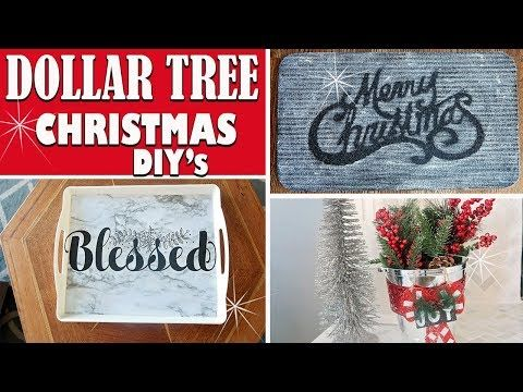 Dollar Tree Christmas Diy 2018 Diy Holiday Home Decor Ideas Youtube Diy Dollar Tree Gifts Dollar Tree Christmas Decor Dollar Tree Gifts