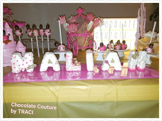 Chocolate Couture by TRACI.. 8/7/16 Princess Theme Babyshower Display