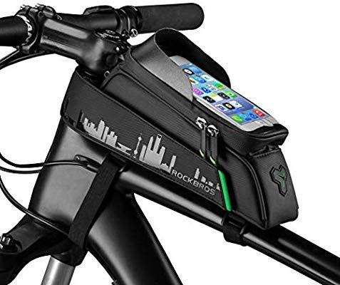 Amazon Com Rockbros Bike Phone Bag Mount Top Tube Bike Bag