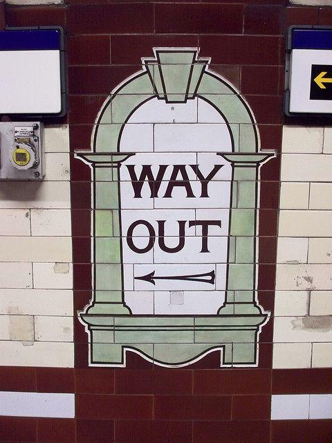 Vintage London Underground sign.