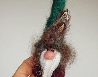 Tomte fieltro mini gnome bosque de abeto / pino por HomeOfGnomes
