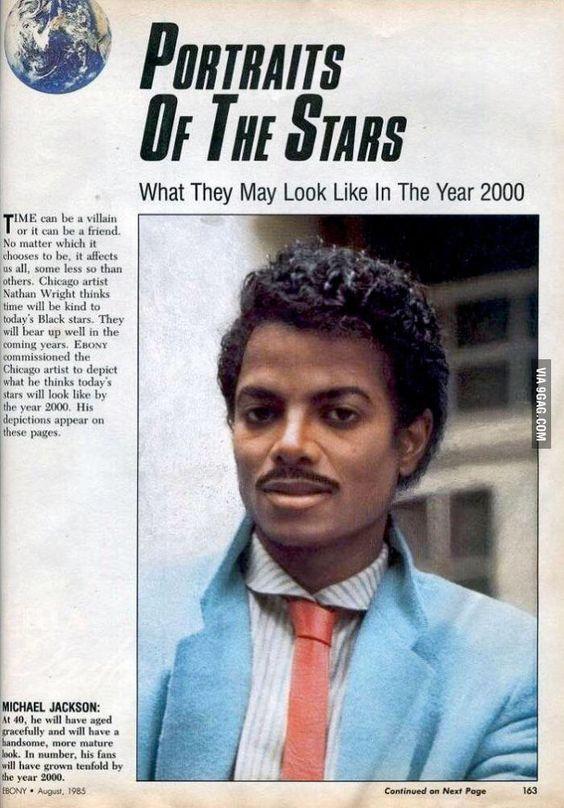 Ebony magazine 1985: predicting MJ's look in 2000 - 9GAG