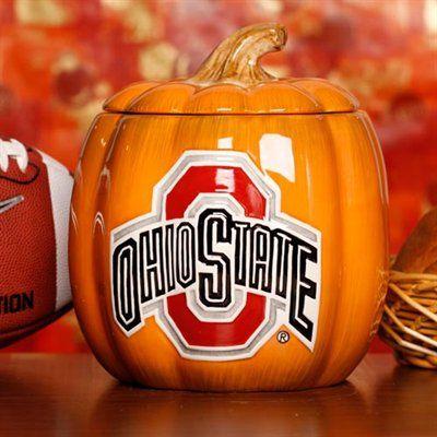 Ohio State Buckeyes Ceramic Pumpkin Jar
