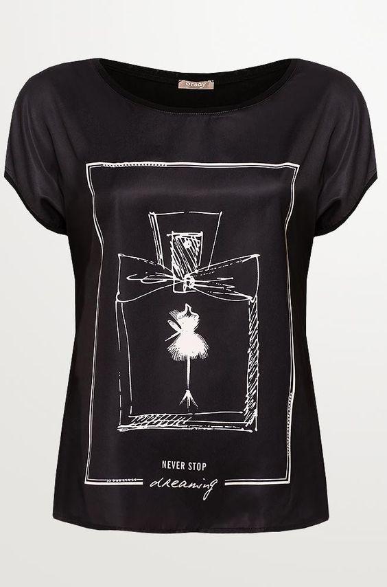T-Shirt mit Parfüm-Print