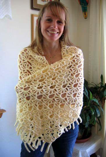lacy fans shawl pattern