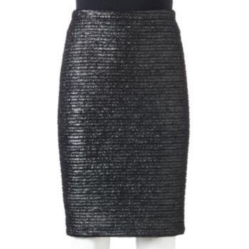 Apt. 9 Foil Jacquard Pencil Skirt - Women's