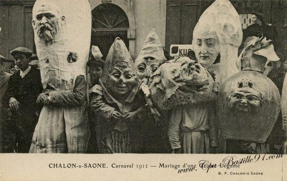 Chalon-sur-Saône - Carnaval de 1911-Mariage dune Grosse légume