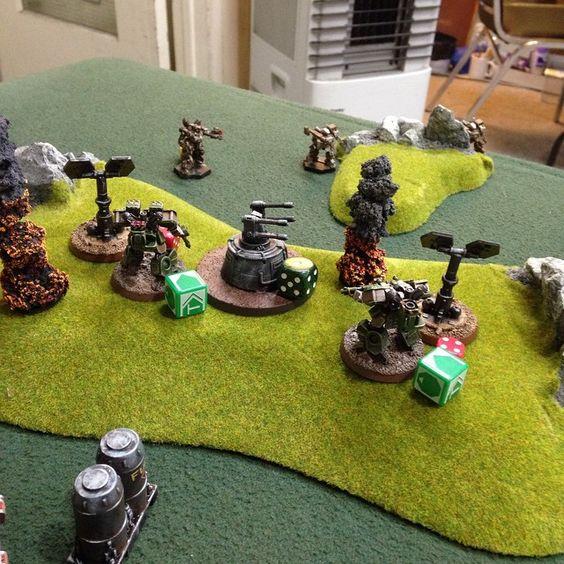 More HeavyGear game action shots: NuCoal vs North, 100 threat value.  http://instagram.com/p/u0IvqKOJrY/