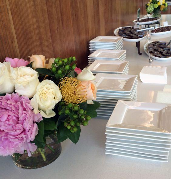 Dessert buffet at a wedding