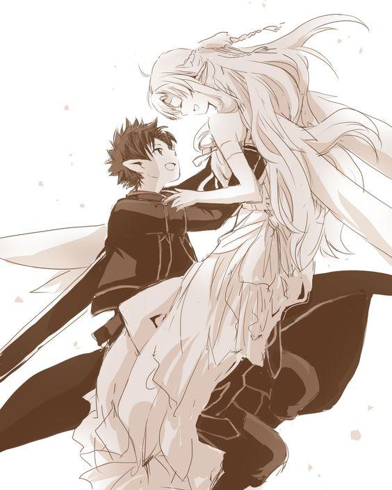 Sword Art Online | A-1 Pictures | Reki Kawahara | abec / Kirito and Asuna / 「【SAO】きみのもとへ」/「湊」のイラスト [pixiv]