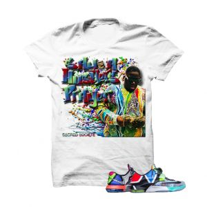 """Hustlers Prayer Biggie WhatThe KD7 White T Shirt. The Hustlers Prayer Biggie WhatThe KD7 White T Shirtis a premium quality sneakerhead t shirt. It matches with the Nike KD 7 """"WhatThe"""" Sneakers. *************************************************************** FOLLOW US ON INSTAGRAM: @illCurrency FOLLOW US ON TWITTER: @ill_Currency LIKE US ON FACEBOOK: facebook.com/illcurrency FOLLOW US ON PINTREST:pinterest.com/illcurrency"""