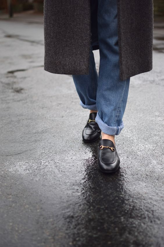 501s with Gucci loafers = best combo!: