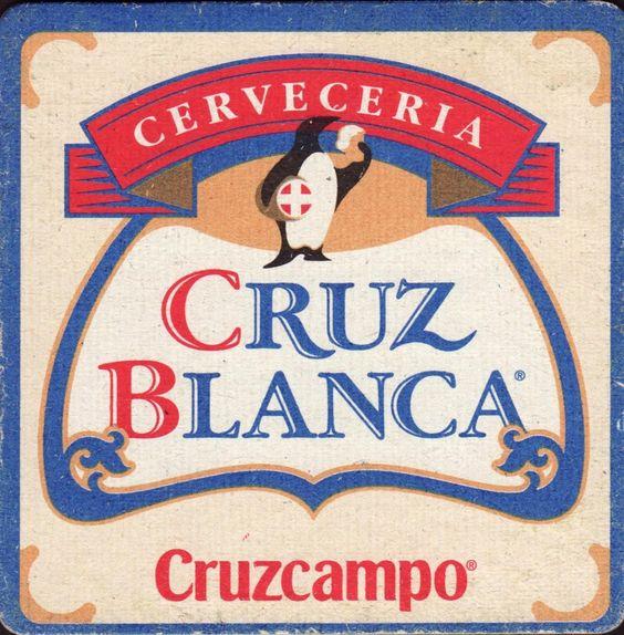 Posavaso de cerveza: Cruz Blanca (Grupo Cruzcampo, España) Col:ES0149