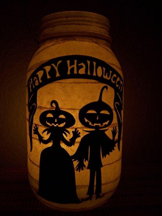 Primitive Halloween Lantern