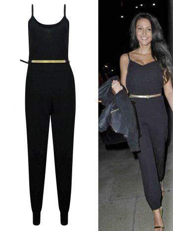KarmaClothing Black Strappy Gold Belted Michelle Keegan Cami ...