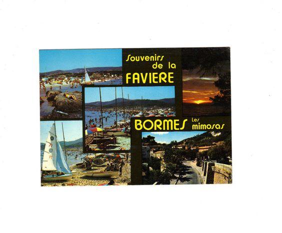 carte postale BORNES LES MIMOSAS