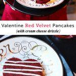 Red Velvet Pancakes for Valentine's Day