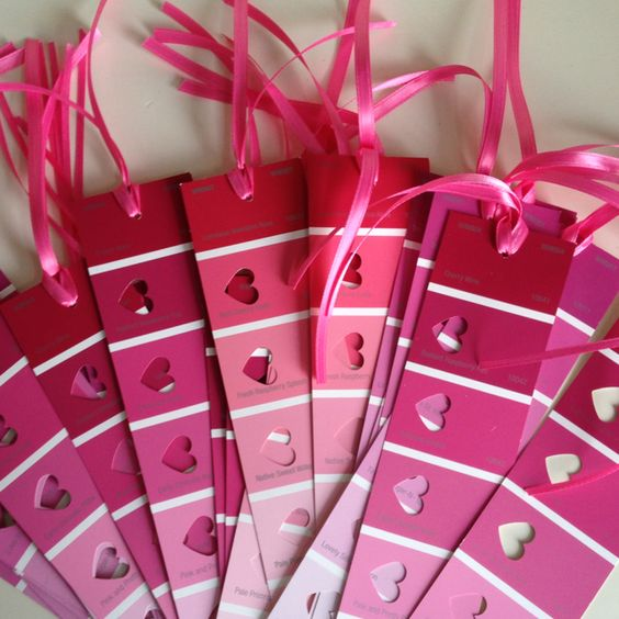 Paint Chip Bookmarks-girls b-day party craft