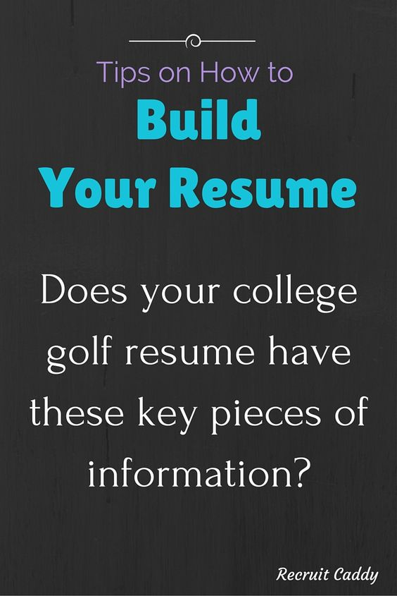 Brandi Jackson Golf Pinterest - college golf resume