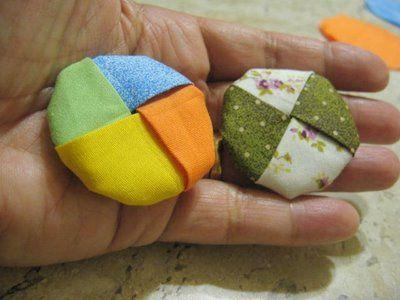 ARTEMELZA - Arte e Artesanato: Fuxico trançado 4 cores - passo a passo | Fabric braided yo-yo 4 colors - step by step