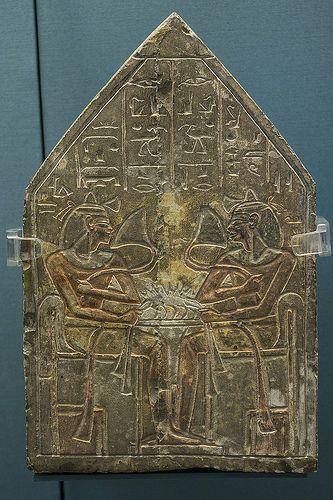 Limestone stele from Deir el-Medina, 19th Dynasty (c.1295-1186 BC), Luxor, Egypt. British Museum (EA 359)