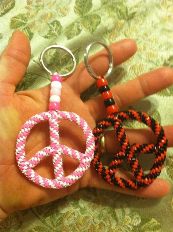 Two square twist stitch peace signs by doggie-dew on DeviantArt