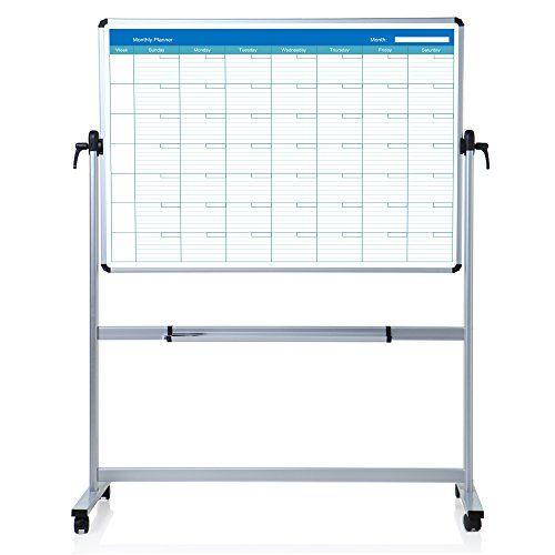 Viz Pro Double Sided Magnetic Mobile Whiteboard Monthly Https Www Amazon Com Dp B01fcyzuv2 Ref C Mobile Whiteboard Whiteboard Easel Magnetic White Board