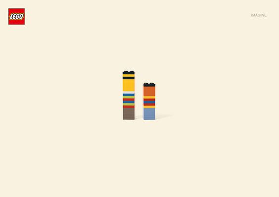 Minimalist Lego Characters: Bert & Ernie.     German agency Jung Von Matt has created a collection of iconic cartoon characters made solely from LEGO blocks.