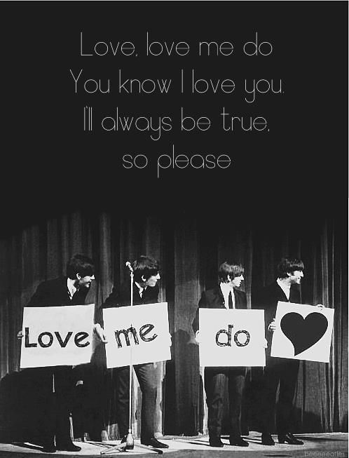 """For I don't care too much for money, for money can't buy me love."" - The Beatles. S)"