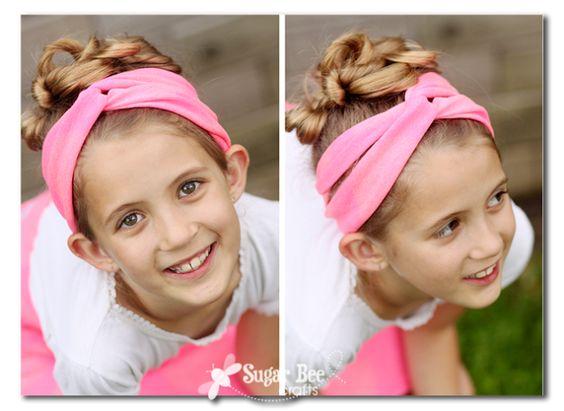 Sugar Bee Crafts: Girls Camp Craft - Tshirt Crafts and Headbands Tutorial: