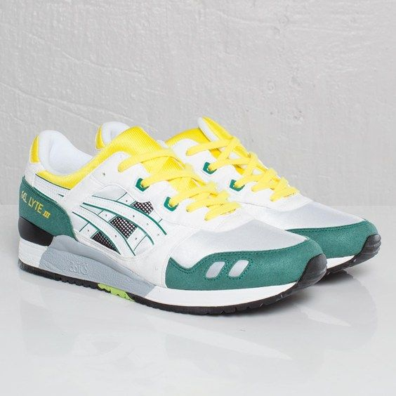 Asics Gel Lyte III - White / Yellow / Green